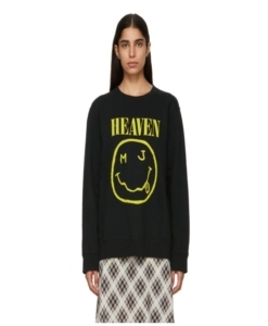 MARC JACOBS Black Redux Grunge Bootleg Sweatshirt
