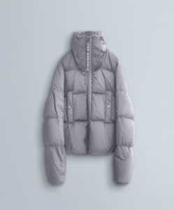 THE ARRIVALS  AER MINI Goose-Down Puffer in Concrete