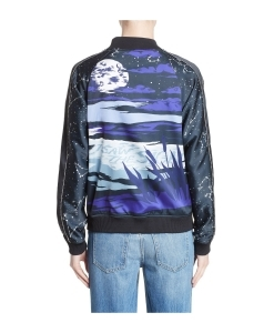 OPENING CEREMONY Night Sky Reversible Silk Bomber Jacket
