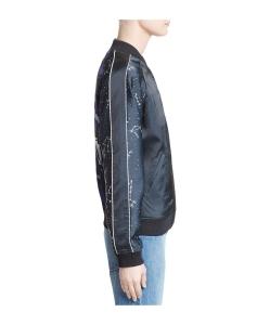 OPENING CEREMONY Night Sky Reversible Silk Bomber Jacket