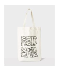 PS BY PAUL SMITH 'Crossed Bones' Print Red Ear Tote Bag