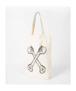 PS BY PAUL SMITH 'Crossed Bones' Print Red Ear Tote Bag