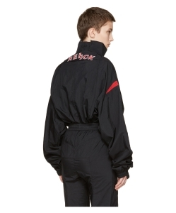 VETEMENTS Black Reebok Edition Reworked Track Jacket