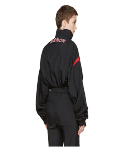 VETEMENTS Black Reebok Edition Reworked Track Jacket