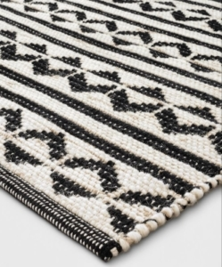 PROJECT 62 Black Geometric Woven Accent Rug