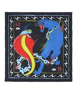 TOPMAN Snake And Panther Print Bandana