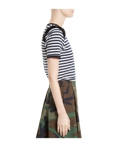 HARVEY FAIRCLOTH Ruffle Trim Sailor Stripe Tee