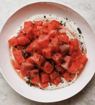 Watermelon Summer Salad with CBD Olive Oil