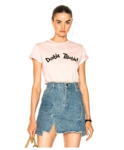 ALEXACHUNG Double Trouble Boxy Tee