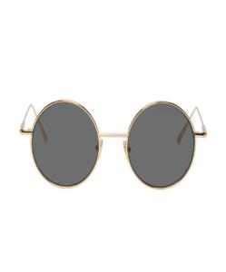ACNE STUDIOS Gold & Black Scientist Sunglasses