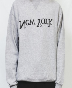 ASSEMBLY NEW YORK Grey New York Logo Sweatshirt