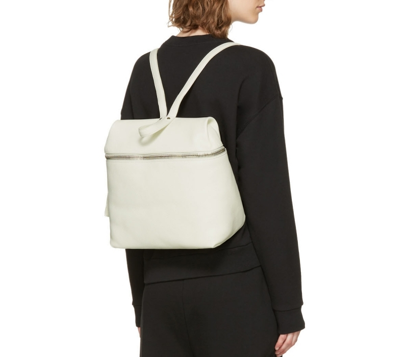 ShopPulp – KARA Off-White Large Leather Backpack