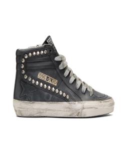 GOLDEN GOOSE DELUXE BRAND Black Studded Slide Sneakers