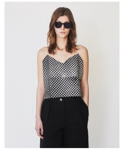 ASSEMBLY NEW YORK Cotton Checkered Simple Cami