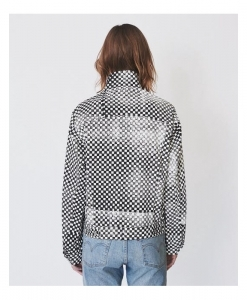 ASSEMBLY NEW YORK Checkered Denim Oversized Jacket