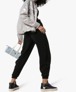 CHLOE Drawstring Wool Track Pants