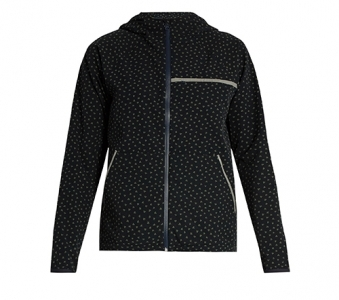 A.P.C. x OUTDOOR VOICES Clover-print hooded performance jacket