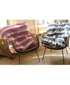HEDGEHOUSE Cortina Black Large Floor/Throw Pillow – 26″