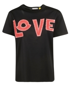 MONCLER GENIUS 1952 Black 'Love' T-Shirt