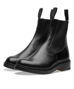 END. x Tricker's Stephen Chelsea Boot  Black Calf
