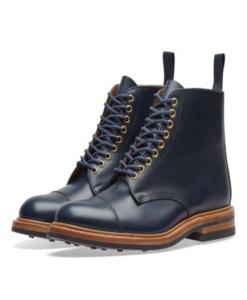 END. x Tricker's Toe Cap Boot  Navy