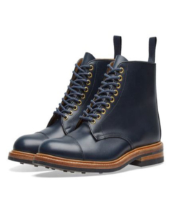 END. x Tricker's Toe Cap Boot  Navy