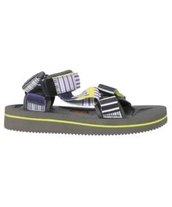 SUICOKE Striped Strapped Sandals