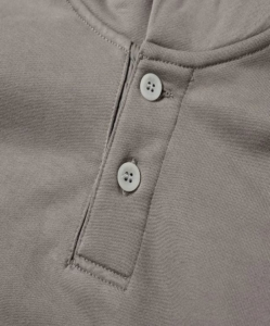 FEAR OF GOD Everyday Henley Hoody in God Grey