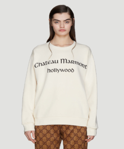 GUCCI Chateaux Marmont Sweatshirt in White