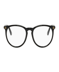 GUCCI Black Acetate Round Glasses