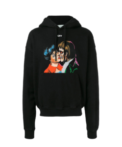 OFF-WHITE Kiss Over Hooded Sweatshirt