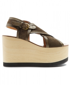 ISABEL MARANT Zlova Canvas Wedges