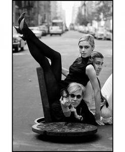 BURT GLINN Andy Warhol With Edie Sedgwick and Chuck Wein 1964