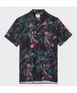 PS BY PAUL SMITH 'Cockatoo' Print Short-Sleeve Shirt