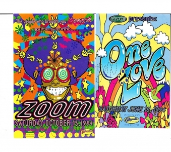 4 Portland Oregon Mid-1990s Rave Cards