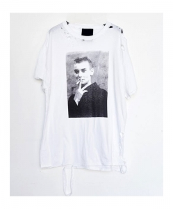 ASSEMBLY NEW YORK Cotton Destroyed Sinead T-shirt