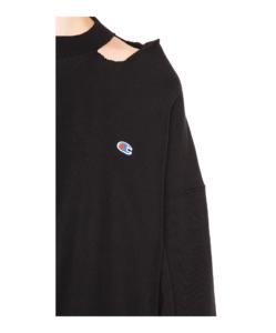 VETEMENTS X CHAMPION Cut Out Neckline Sweatshirt