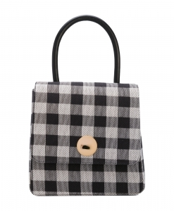 MANSUR GAVRIEL Checked Gingham Leather Tote