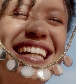 Kyleigh Kuhn x Pamela Love Afghan Moon Phase Necklace