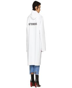VETEMENTS White Logo Raincoat