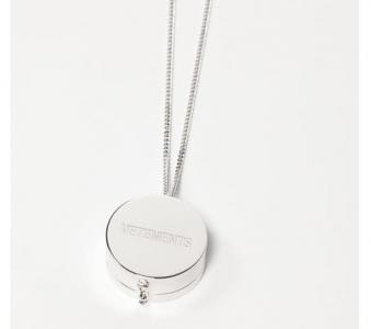 VETEMENTS Silver Grinder Pendant